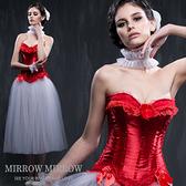 馬甲 維多利亞紅色浪漫水鑽塑身馬甲-束身、表演服_蜜桃洋房