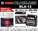 【久大電池】 日本進口 德國博世 BOSCH S6 AGM BLA-12 賓士 BENZ SBC電瓶 W169 W204