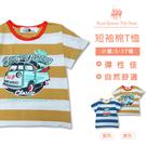 男童短袖上衣 條紋胖卡圖T*2色[6401] RQ POLO 春夏 童裝 小童 5-17碼 現貨