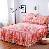 單件床裙床罩床裙式床套防滑1.8米2.0m荷葉邊床單保護罩【完美生活館】