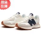 【現貨】New Balance 327 女鞋 慢跑 休閒 復古 拼接 皮革 深藍【運動世界】WS327KB