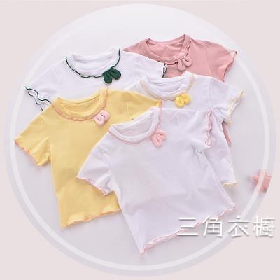 短袖童裝夏裝2020新款女童短袖T恤衫兒童童女寶寶薄款上衣0-1-2-3歲潮