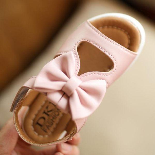 女童涼鞋小公主鞋子平底寶寶新款夏季防滑軟底1-3歲兒童涼鞋 〖korea時尚記〗