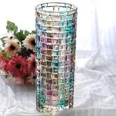 玻璃花瓶-美麗時尚歐式藝術品竹編風格居家擺件72ah5[時尚巴黎]