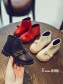 短靴-秋冬季新款韓版軟面皮兒童馬丁靴寶寶休閒短靴蝴蝶結公主靴子 korea時尚記