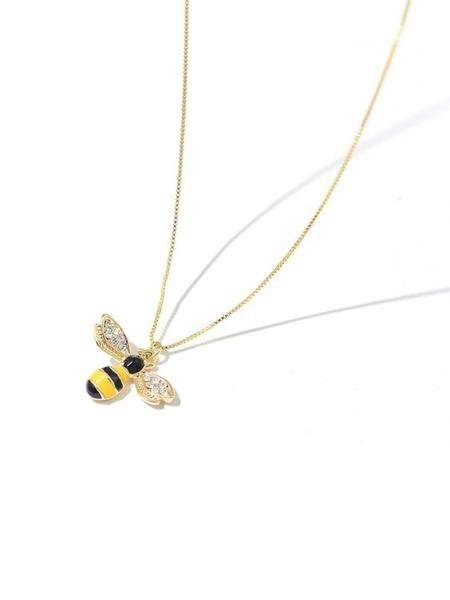 小蜜蜂高級感項鏈女潮小眾網紅法式鎖骨鏈韓國氣質簡約個性飾品鏈【快速出貨】