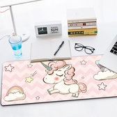 滑鼠墊超大號卡通動漫遊戲可愛女生加厚鎖邊辦公電腦鍵盤墊桌墊 七夕禮物