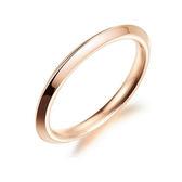 【5折超值價】316L西德鈦鋼最新款時尚精美簡約光面造型女款鈦鋼戒指