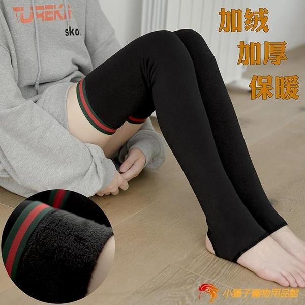 秋冬襪套女過膝加絨加厚保暖護膝護腿踩腳長筒襪高筒【小獅子】