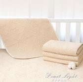 彩棉隔尿墊嬰兒防水可洗透氣大號超大兒童寶寶床墊床單表純棉隔夜 果果輕時尚