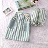 半身短款圍腰圍裙韓版日式小清新家居廚房圍腰裙奶茶店工作服罩衣