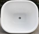 【麗室衛浴】BATHTUB WORLD LS-8634 壓克力橢圓造型空缸崁入型 80*69*H62CM