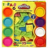 黏土 培樂多Play-Doh 創意DIY 字母數字遊戲組(附8色黏土) 21018