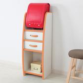 【TZUMii】小木偶二抽收納櫃-三色可選橘白
