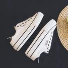 回力女鞋厚底小白鞋女2021年新款夏季增高百搭帆布鞋松糕底潮鞋子  【端午節特惠】