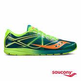 SAUCONY TYPE A 輕量競速專業競速鞋款-藍綠x螢光綠