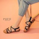 限量現貨◆PUFII-鞋子 後鬆緊多線條細帶涼鞋-0316 現+預 春【CP18176】