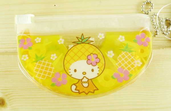 【震撼精品百貨】Hello Kitty 凱蒂貓-凱蒂貓造型零錢包-水果圖案-黃鳳梨