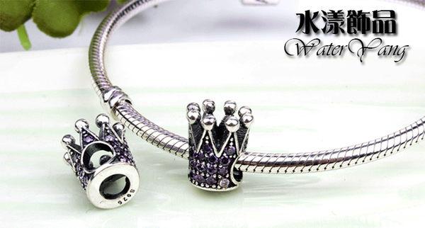 皇冠純銀大孔珠子
