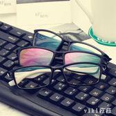 防輻射眼鏡男防藍光無度數平面鏡女護目復古眼鏡架 nm5054【VIKI菈菈】