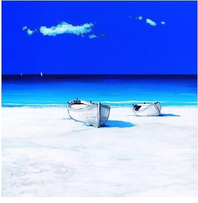 海灘裝飾畫客廳臥室餐廳掛畫現代簡約家居牆畫無框畫沙發背景牆畫12