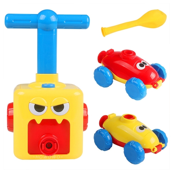 氣球車 空氣動力車 氣球玩具車 手動打氣 動力氣球車 空氣車 空氣火箭車 0026 汽車玩具