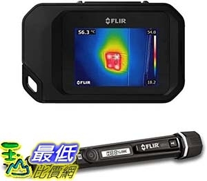[9美國直購] FLIR 熱像儀 FLIR C3 Pocket Thermal Camera with WiFi and FLIR MR40 Moisture Pen with Built in Flashlight