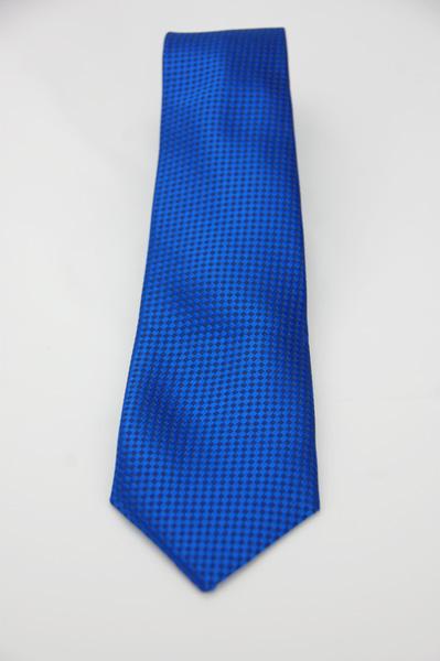 【Alpaca】亮藍菱黑格紋領帶