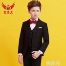 兒童西裝 兒童西裝套裝帥氣英倫花童禮服男童小西服中大童男孩鋼琴演出服春 韓菲兒