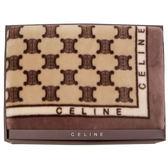 CELINE 經典滿版BLASON LOGO漸層雪綿蓋毯禮盒(駝)084115