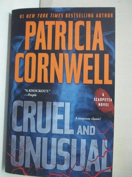 【書寶二手書T9/原文小說_GT4】Cruel & Unusual_Cornwell, Patricia Daniels