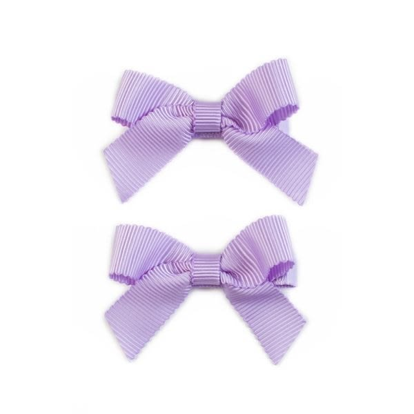 美國 Ribbies Clippies 經典蝴蝶結2入組-淺紫