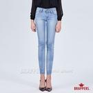 BRAPPERS 女款 新美腳ROYAL系列-褲口不規則剪裁低腰七分褲-藍