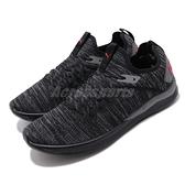 Puma 訓練鞋 Ignite Flash EvoKnit 黑 紅 男鞋 針織 多功能 慢跑鞋 運動鞋【ACS】 19050825