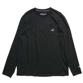 KANGOL 黑色 口袋T 薄長袖 薄長T 男 (布魯克林) 6951100120