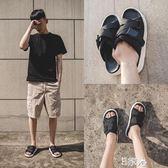 沙灘涼鞋男鞋韓版潮流時尚外穿涼拖 E家人