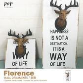 鹿頭木板畫 掛飾 飾品 美式鄉村 復古 品歐家具【E2】