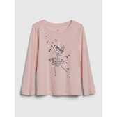 Gap女幼童創意印花設計圓領T恤519090-冰粉色