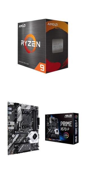 【自組DIY兩件組R59】AMD R9 5900X+華碩 PRIME X570-P