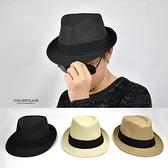 藤編帽 日系休閒爵士風草帽NHB11
