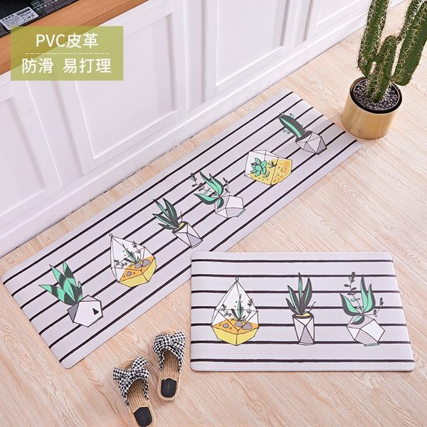 時尚創意地墊269 廚房浴室衛生間臥室床邊門廳 吸水長條防滑地毯(45*120cm)