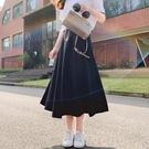 夏季半身裙女中長款新款高腰復古a字裙in...