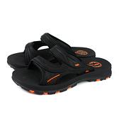 G.P (GOLD PIGEON) 阿亮代言 拖鞋式涼鞋 雨天 黑/橘 男鞋 G0560-42 no380