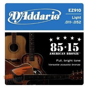 DAddario EZ910民謠吉他弦(11-52)【DAddario/進口弦/EZ-910】