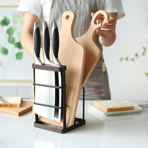 尺寸超過45公分請下宅配日式鐵藝刀架廚房用品砧板菜刀架菜板刀具
