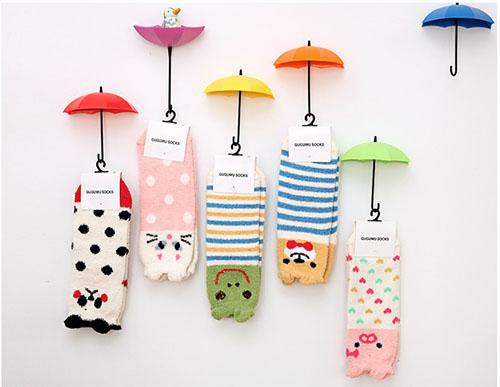 動物卡通襪子 卡通保暖襪 冬季保暖襪 絨毛短襪