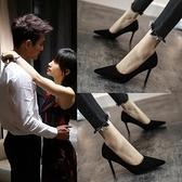 2021新款法式小高跟黑色高跟鞋女夏女鞋細跟百搭網紅工作單鞋女 【端午節特惠】
