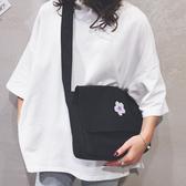 斜背包 大容量帆布包包女2019新款韩版单肩包大学生上课的斜背包