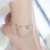 925銀轉運珠鈴鐺腳鍊女韓版簡約學生森繫閨蜜腳環腳踝鍊生日禮物