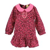 ~愛的世界~甜心公主純棉玫瑰條絨長袖洋裝4 6 歲 製 洋裝